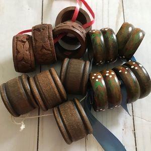 Vintage Wood Napkin Rings